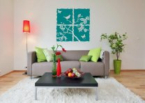 Large Beautiful Wall Decal With Birds, Butterflies and Leafs