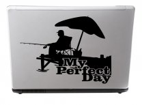 Designers - My perfect day - Wall / Car / Van / Laptop Decal For Anglers / Fishermen