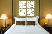 Beautiful Leaves and Butterfly Wall / Window Vinyl Design