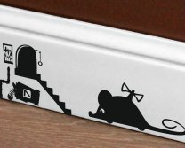 Designer - Toy Mouse And Cute Little Mouse Home - Vinyl Wall Decal