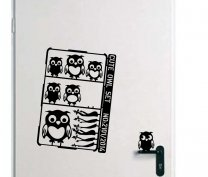 Designer - Cute Owl Set - Lovable Vinyl Stickers