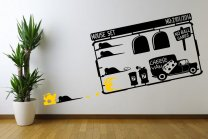 Designer - Mouse Set With Cheese Van - Amusing Vinyl Stickers