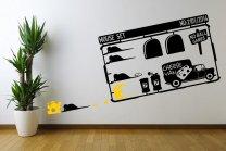 Designer - Mouse Set With Cheese Van - Amusing Vinyl Stickers