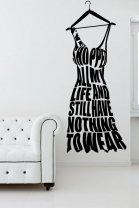 Designer - 'I've shopped all my life...' version 1 - Amazing Wall Sticker