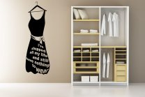 Designer - 'I've shopped all my life...' version 2 - Lovely Dress Wall Decal
