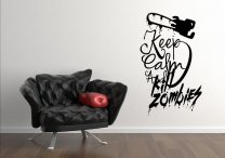 Designer - 'Keep Calm And Kill Zombies' - Modern Vinyl Sticker