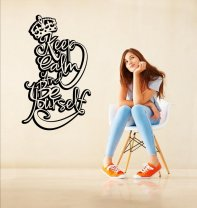 Designer - 'Keep Calm And Be Yourself' - Contemporary Wall Decoration