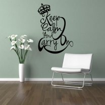 Designer - 'Keep Calm And Carry On' - Fantastic Wall / Car Decal