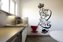 Designer - 'Keep Calm And Put The Kettle On' - Large Vinyl Decal