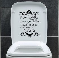 Designer - 'If you sprinkle when you tinkle...' - Toilet / Wall Vinyl Sticker