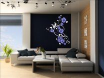 Decorative Flowers Art Vinyl Wall Sticker
