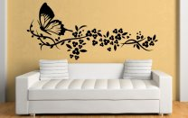 Delicate Flowers And Butterfly - Art Decoration