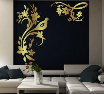 Egzotic Bird Giant Wall Stickers Normal