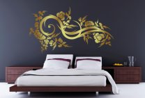 Vine Floral Swirl Wall Sticker
