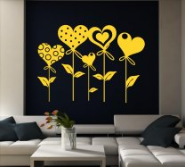 Hearts Vinyl Decoration