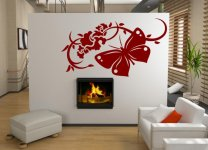 Huge Butterfly Art Wall Mural