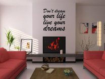 JC Design 'Don't dream your life - live your dreams' Vinyl Wall Quote