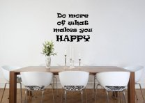 JC Design 'Do more of what makes you HAPPY' - Motivational Vinyl Sticker