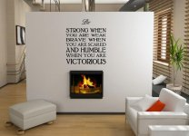 JC Design 'Be strong when you are weak...' Huge Wall Sticker Quote