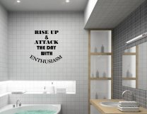 JC Design 'Rise Up & Attack The Day With Enthusiasm' Motivational Wall Quote