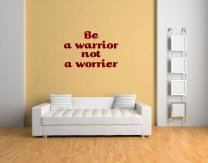 JC Design 'Be a warrior not a worrier' Inspiring Wall Quote Sticker