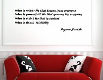 JC Design 'Who is wise?...' Benjamin Franklin Quote Wall Sticker