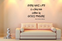 JC Design 'Every mans life is a fairy tale...' H.C.Andersen - Wall Quote Vinyl Decor