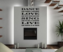 JC Design 'Dance like nobody's watching...' Amazing Huge Wall Sticker