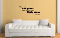 JC Design 'There is no one giant step...' Motivational Quote Wall Sticker