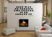 JC Design 'Best way to predict the future is to create it' Large  Vinyl Wall Sticker