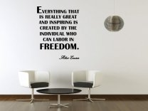 JC Design 'Everything that is really great and inspiring...' Albert Einstein Quote Wall Decor