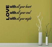 JC Design 'Love with all your heart...' Amazing Wall Decal