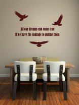 JC Design 'All our dreams can come true...' Motivational Quote Wall Sticker