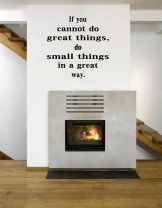 JC Design 'If you cannot do great things, do small things in a great way.' Large Wall Decor