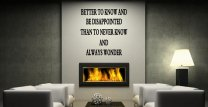 JC Design 'Better to know and be disappointed...' Motivational Wall Decal