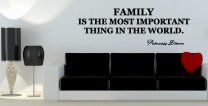 JC Design 'Family is the most important thing in the world.' Princess Diana Quote Sticker