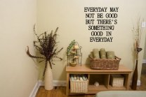 JC Design 'Everyday may not be good...' Optimistic Wall Decoration