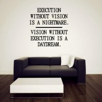JC Design 'Execution without vision...' Large Motivational Sticker