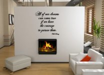 JC Design 'All of our dreams can come true...' Walt Disney Motivational Quote Sticker