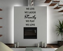 JC Design 'Family - we live, we laugh, we play, we love.' Large Wall Sticker