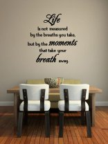 JC Design 'Life is not measured by the breaths you take...' Large Vinyl Sticker