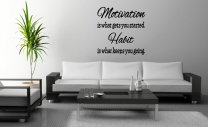 JC Design 'Motivation is what gets you started...' Vinyl Wall Sticker