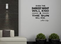 JC Design 'Even the darkest night will end & the sun will rise.' Victor Hugo - Quote Wall Decal