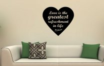 JC Design 'Love is the greatest refreshment in life' Picasso - Quote Wall Decal