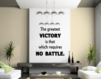 JC Design 'The greatest victory is that which requires no battle' - Vinyl Wall D
