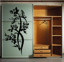Lovely Large Flowers Wall Sticker Normal