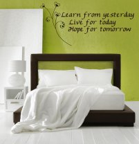 'Learn from yesterday...' Wall Quote