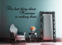 'The best thing about Memories...' Wall Quote