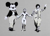 Huge Poster BANKSY ' Ronald McDonald & Mickey Mouse '