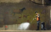 Huge Poster BANKSY ' White-washing Of Human History '